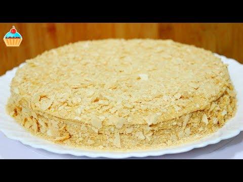 Ну, оОчень вкусный - Вафельный Торт! Заварной Крем с Вареной Сгущенкой!