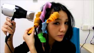 Demonstration on how to use magic curler