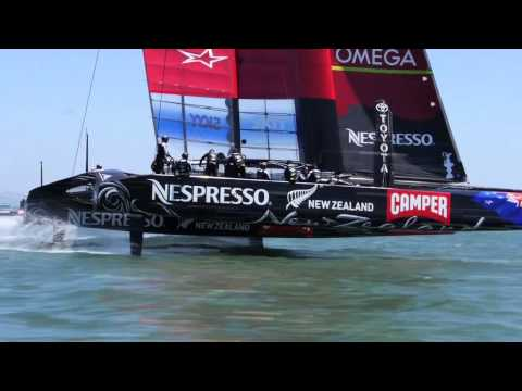 Emirates Team New Zealand First Day in San Francisco.