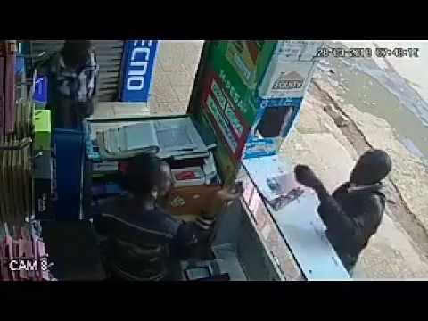 Eldoret:Mpesa thief caught on CCTV Footage
