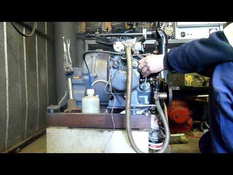 Yanmar YSE12G Marine Diesel - Cold Hand-Crank Start