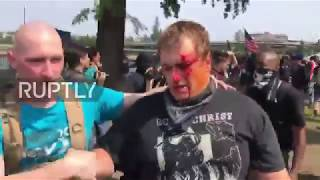 USA: Violence breaks out as rival protesters clash in Portland Sunday Aug 6 2017