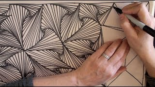 Speed Doodling 2 (speed drawing, Zentangle, Doodle, Pursuit Curves, math) by Sophia Rose