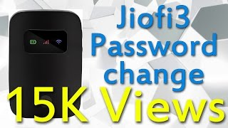 Jiofi 3 Wi-Fi password change