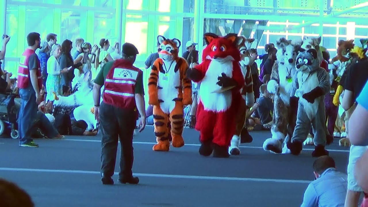 Fursuit Parade Pittsburgh Anthrocon 2014 Fursuit Parade