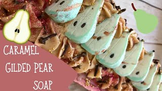 Making Of The Crimson Pear Cold Process Soap & How to Make Soap Dough Pears | 🍐  GYPSYFAE CREATIONS