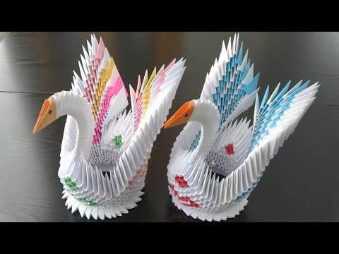 3D Origami, Kanatlı Kuğu Yapımı - 3. Bölüm - Origami Swan PART 3