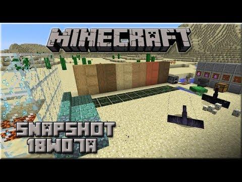 Minecraft 1.13 - Snapshot 18w07a : Phantom, tortues & new blocs aquatic update !