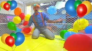 Blippi at the Indoor Playground to Learn Colors | Educational Videos for Toddlers