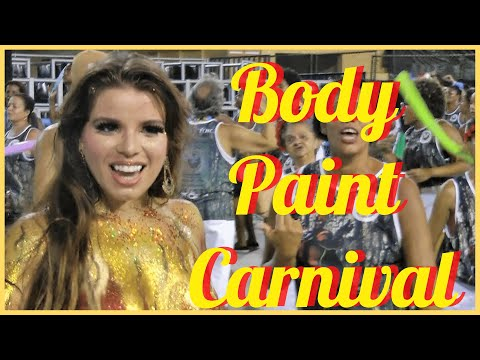 BODY PAINTING CARNIVAL 2017: GOLD PAINT COSTUME LIGHTS UP CARNIVAL PARADE AT RIO: MICHELE