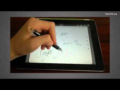 電容觸控筆 DAGi Accu Pen P504 Stylus & Apple iPad2 Demo