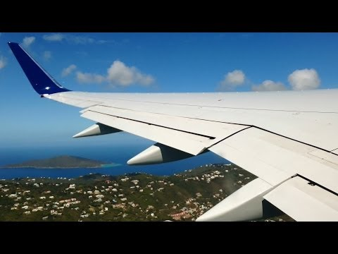Caribbean Islands! Beautiful Delta Air Lines 757 Takeoff From St. Thomas!