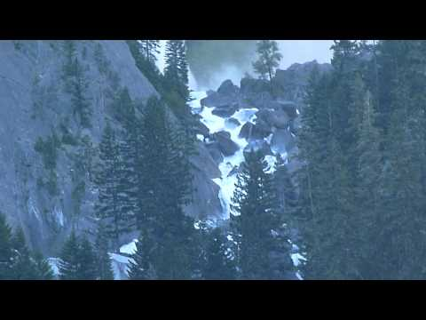 Illilouette Falls from JMT near Happy Isles Video