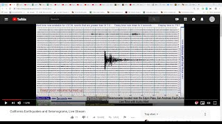 Pacific Coast Seismographs, Western, U.S. (alternating with Southern California Earthquake Monitor )