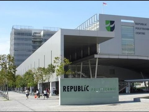 Tour around Republic Polytechnic in Singapore