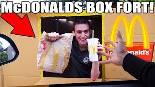 McDONALDS BOX FORT CHALLENGE!! 📦🍔 (FAST FOOD RESTURANT!)