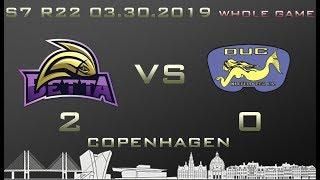 Euroleague 7th season WHOLE GAME Betta - DUC Krefeld 2-0 (1-0)