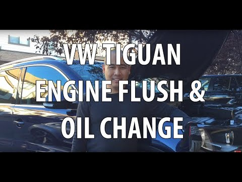 VW/Volkswagen Tiguan How to Do an Oil Change, Engine Flush, & Reset Service Light Detail Instruction