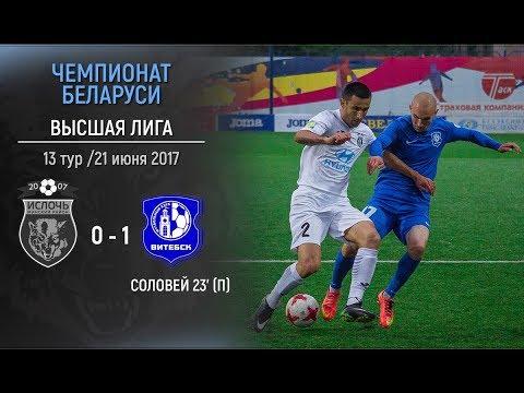 Ислочь 0:1 Витебск. Видеообзор матча