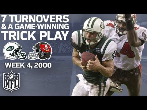Remember that Game When the Jets & Bucs Combined for 7 TO's & a Game-Winning Trick Play? | NFL