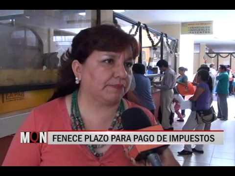 19/12/2014-19:15 FENECE PLAZO PARA PAGO DE IMPUESTOS