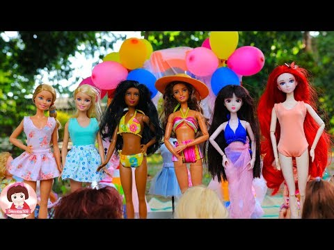 ละครบาร์บี้ เดินแบบ แฟชั่นโชว์ รีวิวชุดตุ๊กตาบาร์บี้ ชุดว่ายน้ำบาร์บี้ Barbie Doll Fashion Show