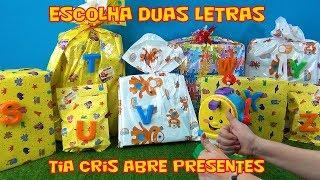 ESCOLHA 2 BRINQUEDOS E SURPRESAS - CHELSEA -TIA CRIS ABRE PRESENTES