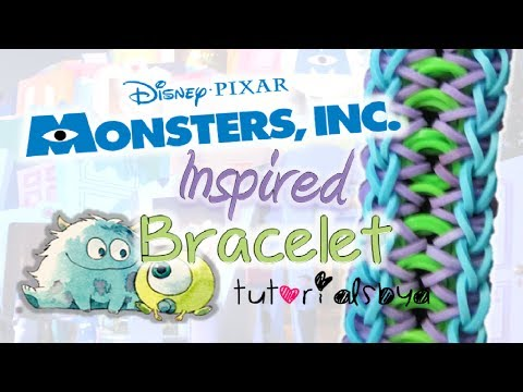 NEW Monsters Inc. / University Inspired Rainbow Loom Bracelet Tutorial | How To