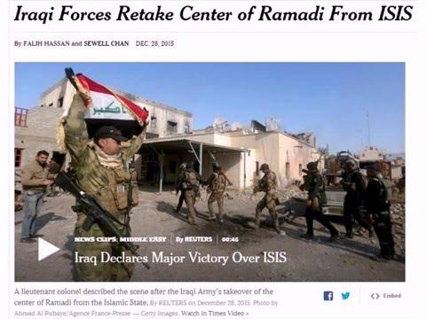 12/28/2015: Iraqi Forces Retake Center of Ramadi From ISIS