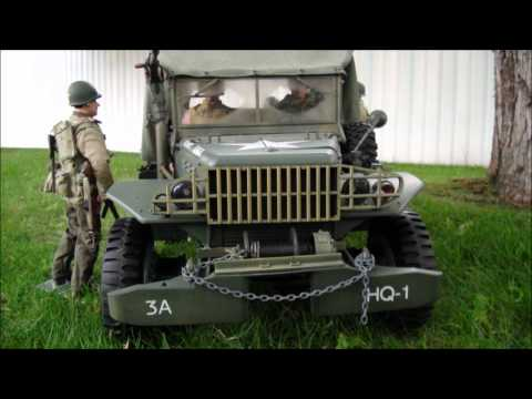 World War II Action Figures RC modified 1/6 scale WC52 Carrier Truck Walk Around.