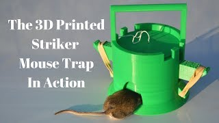 "The 3D Printed ""Striker"" Mouse Trap In Action. Invented By Youtube Viewer."