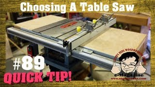 Do you have the wrong table saw? A no-BS buyer's guide.