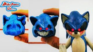 Como hacer a SONIC EXE de plastilina   Making Sonic .Exe in clay tutorial DibujAme Un