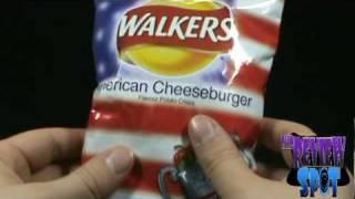 Random Spot - Walker's American Cheeseburger Flavour Potato crisps