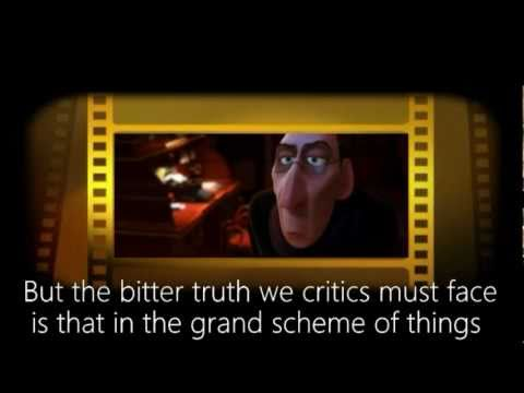 "Pixar's message to critics. (Excerpt from Brad Bird's ""Ratatouille"")"