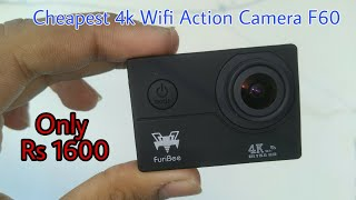Best Cheapest 4k Wifi Action Camera Unboxing & Review 2017 | Only Rs. 1600 ($25)