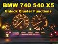 Dash Cluster Gauge Unlock Test Functions BMW X5 740 540