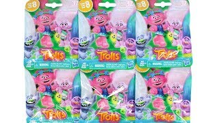 Trolls Series 8 Let's Glow Trolls Blind Bag Glow in the Dark Unboxing Toy Review