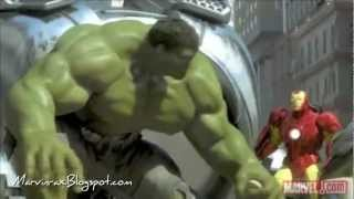 Iron Man, Hulk & Spider Man fighting [Sub Español]