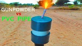 EXPERIMENT PVC PLUMBING MATERIAL vs GUNPOWDER