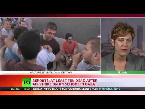 Israeli airstrike targets another UN school in Gaza, 10 dead
