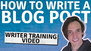 Download lagu Blog Post Writing Template and Structure Guide (My Writer Training Video)