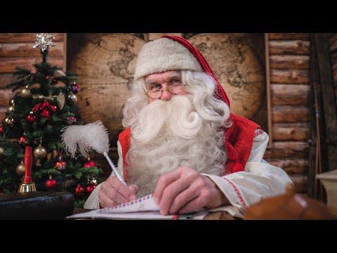 Message du Père Noël de la Laponie, Finlande, Rovaniemi - Papa Noël