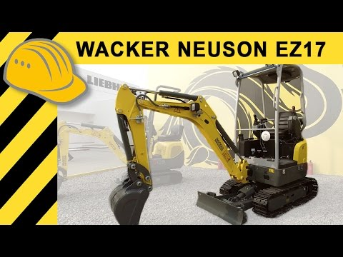 Wacker Neuson EZ17 Mini-Excavator Chinese Market | bauma China 2016 | Bauforum24 TV | 4K