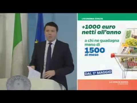 Matteo Renzi presenta le misure adottate sul suo piano tasse lavoro e scuola