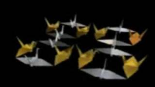 Origami Cranes Doing Dutch Crossing