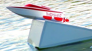 JUST JUMPS - THRASHER XT JET BOATS Fly High | RC ADVENTURES