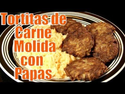 Tortitas de carne molida con papas casayfamiliatv youtube for Comidas faciles de cocinar