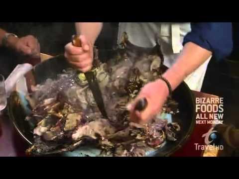 Andrew Zimmern eats a Tuna Head in Tokyo