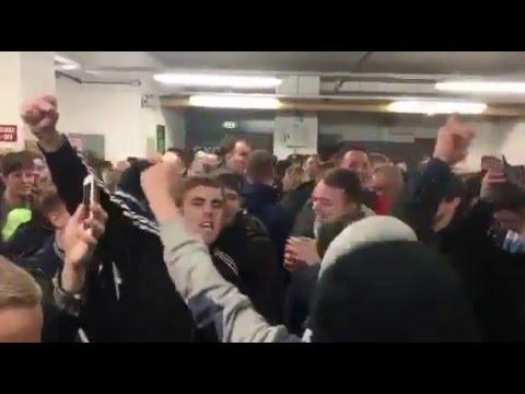 09/01/2016 - Man City fans singing Bacary Sagna song at Norwich.